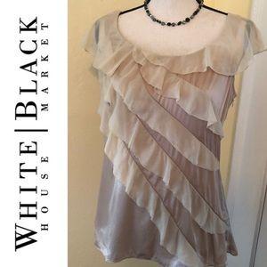 Black House/White Market Champaign Ruffle Blouse